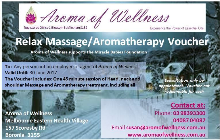 Aroma of Wellness Christmas voucher 2 - 45 mins